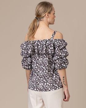 Блуза CO'COUTURE Черный в цветочек