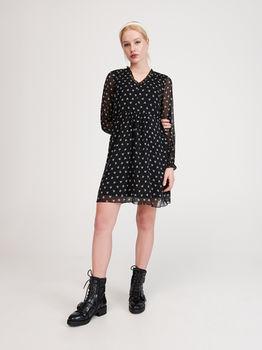 Платье RESERVED Черный с принтом yi135-99x