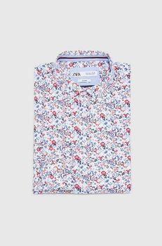 Рубашка ZARA Белый с цветами zara 8211/331/060