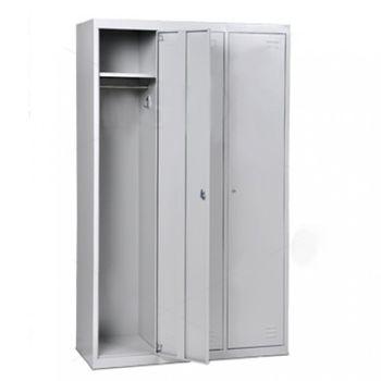 cumpără Dulap metalic pentru haine cu 3 compartimente, 1850x1140x450 mm, RAL 7035 în Chișinău