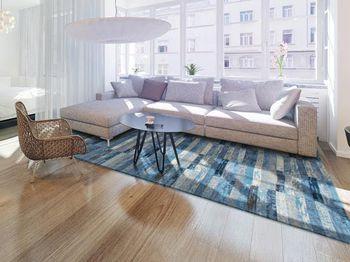 купить Ковёр ручной работы LOUIS DE POORTERE Mosaiq Blue Jeans 8401 в Кишинёве