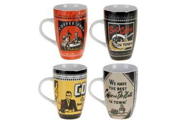 """Чашка 380ml, высокая """"coffe"""", керамика"""