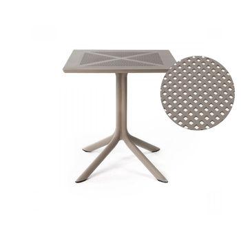 Стол Nardi CLIPX 80 TORTORA 40083.10.000 (Стол для сада террасы балкон)