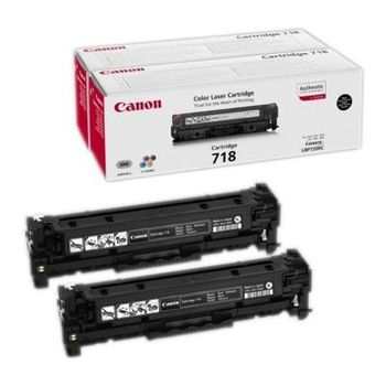 Laser Cartridge Canon 718 x set 2pcs, black (3400 pages) for LBP-7200Cdn/7660Cdw/7680Cx & MF8550Cdn/8540Cdn/8380Cdw/8360Cdn/8350Cdn/8330Cdn