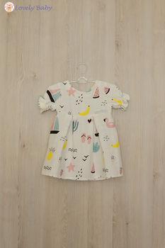 Платье R04 с фламинго