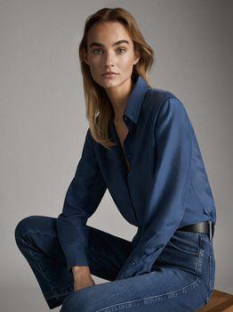 Блуза Massimo Dutti Синий 5123/517/427