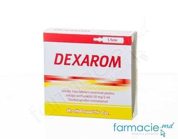 купить Dexarom sol.inj. / conc./sol. perf. 50 mg/2 ml N5 в Кишинёве