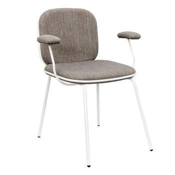 купить Металлический стул с текстильным сиденьем, 510x470x520.5 мм, серый в Кишинёве