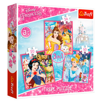 "Пазлы ""3в1""-""The enchanted world of princesses / Disney Princes"", код 40562"
