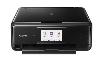 MFD Canon PIXMA TS8040 Black, Colour Print/Scan/Copier/Card Readers,Wi-Fi+Cloud Link,  A4, Print 4800x1200dpi_2pl,Scan 1200x2400dpi,ESAT 12.6/9.0ipm, 64-300г/м2,Paper Input: 100sheets,USB 2.0, Display LCD 7.5cm,5-ink tanks PGI-470/470XL BK,PGBK,C,M,Y