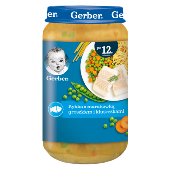 купить Пюре Gerber Junior рыба-морковь-горошек, с 12 месяцев, 250г в Кишинёве