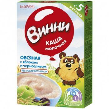 cumpără Винни terci de ovăz cu lapte, mere și prune uscate 5+ luni, 200 g în Chișinău