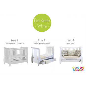 купить Tutti Bambini Кроватка Katie  3 в 1 в Кишинёве