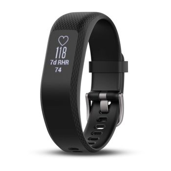 GARMIN Vivosmart 3 Black L, OLED display, Activity Tracker, Timer, Stopwatch, Smart notificatiions, Step counter, Move bar, Sleep monitoring, Calories burned, Floors climbed, Heart Rate, Water rating - swim, Battery life Up to 5 days