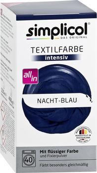 cumpără SIMPLICOL Intensiv - Vopsea pentru haine si textile in masina de spalat, noapte Albastră în Chișinău