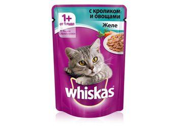 купить Whiskas желе с кроликом и овощами в Кишинёве
