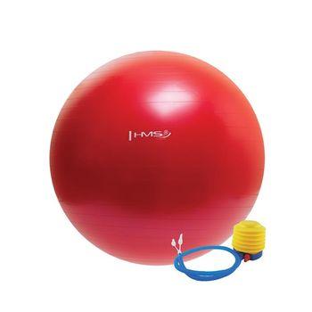 Мяч гимнастический с насосом d=65 см HMS 17-42-107 red (4823)