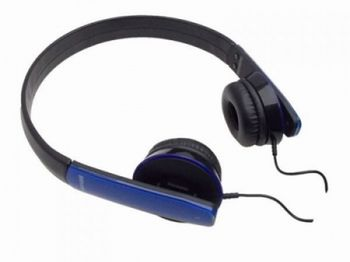 "MAXELL ""HP-MIC"" Blue, Headphones with in-line Microphone, Hands free calling features, 1.2 m"