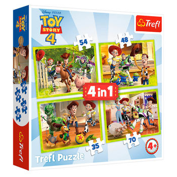 """Puzzle """"4in1"""" - Echipa jucăriei / Toy Story, cod 43152"""