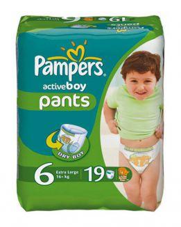 Pampers active boy трусики (6+ кг)