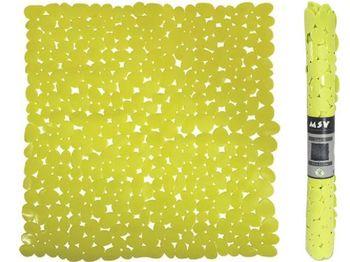 Коврик для душа 53X53cm MSV Galets зелeный, PVC