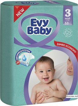 купить Evy Baby подгузники Midi 3, 5-9 кг.68 шт в Кишинёве
