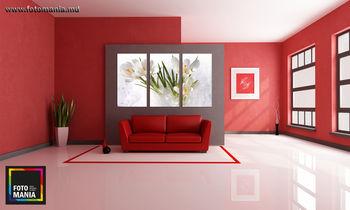 Картина напечатанная на стекле Цветы - 0003
