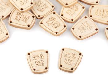Etichetă lemn Hand Made