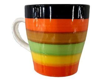 купить Чашка конус D8.5, H9cm, разноцветные полоски в Кишинёве