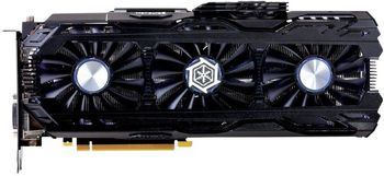 INNO3D / iChiLL GeForce GTX 1070 Ti  X4 / 8GB DDR5, 256bit, 1683/8000Mhz, DVI, HDMI, 3x DisplayPort, Triple Fan - iChiLL X4 Solution (Active Power Cooling System), IDLE mode, Performance LED Indicators, Inside the Box: Mouse Pad + 3D Mark/VR Mark
