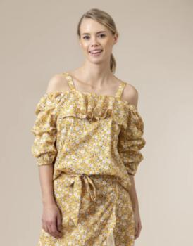 Блуза CO'COUTURE Желтый с принтом