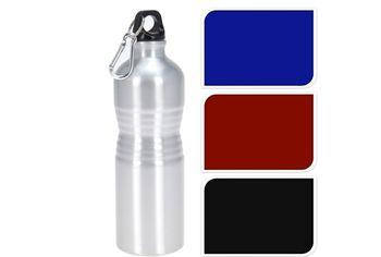 Бутылка питьевая 0.75l с карабином, алюминий