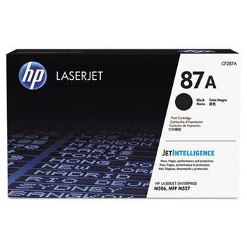 HP 87A High Yield Black Original LaserJet Toner Cartridge, 18000 p., for M5xx series