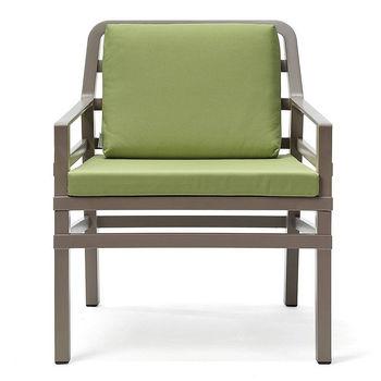 Кресло с подушками Nardi ARIA TORTORA lime 40330.10.061.061 (Кресло с подушками для сада и терас)