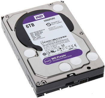 "6.0TB-SATA- 64MB Western Digital ""Purple Surveillance"