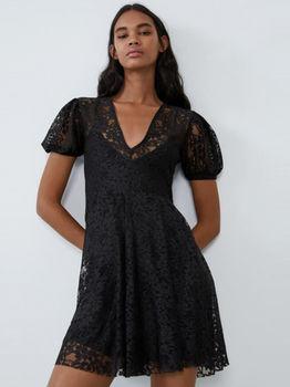 Платье ZARA Чёрный 5644/908/800