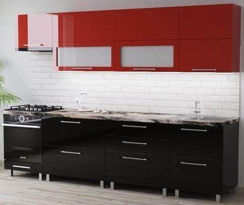 Кухонный гарнитур Bafimob Blum (High Gloss) 2.8m Red/Black