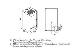 купить Печь пеллетная - BARBARA 11,5 кВт в Кишинёве