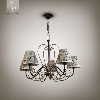 N&B Light Люстра Грация new 10355-1 черный/золотой лак