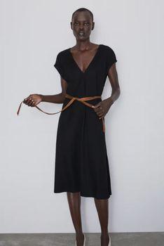 Платье ZARA Чёрный 5580/628/800