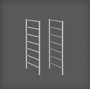cumpără Set ramă pentru coșuri metalice, 7 rânduri, 435x20x740 mm, argintiu în Chișinău