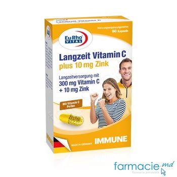 купить Vitamina C 300mg+Zinc 10mg (Langzeit) retard caps. N60 EuRho Vital в Кишинёве
