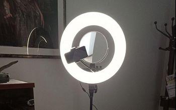 Лампа для селфи на штативе с зеркалом S116-17 (4272)