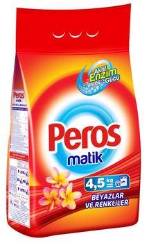 Универсальный стиральный порошок для автоматической стирки PEROS 4.5кг. White & Colors