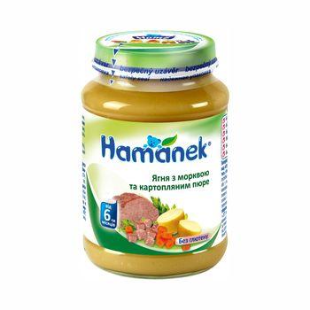 Пюре Hamanek ягненок с морковкой и картофелем, с 6 месяцев, 190г