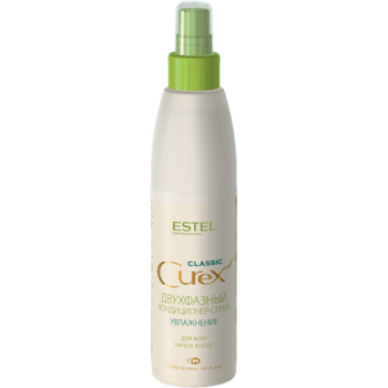 Condiționer-spray bifazic pentru toate tipurile de păr, ESTEL Curex Classic, 200 ml., Hidratare