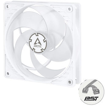 Case/CPU FAN Arctic P12 PWM PST, Pressure-optimised Fan with PWM PST, Transparent, 120x120x25 mm, 4-Pin-Connector + 4-Pin-Socket, 200-1800rpm, Noise 0.3 Sone, 56.3 CFM (95.7 m3/h) (ACFAN00134A)