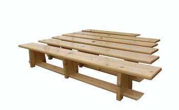 Скамья гимнастическая деревянная 3 м B30 (4341)