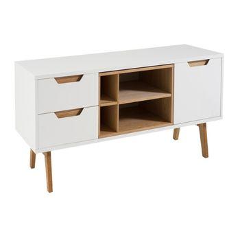 cumpără Comodă cu sertare, 1560x50x590.5x120.5 mm/660x450.5x150.5 mm, alb în Chișinău