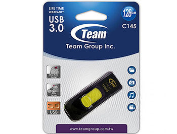 128GB USB Flash Drive Team C145, USB 3.0, TC1453128GY01 (memorie portabila Flash USB/внешний накопитель флеш память USB)